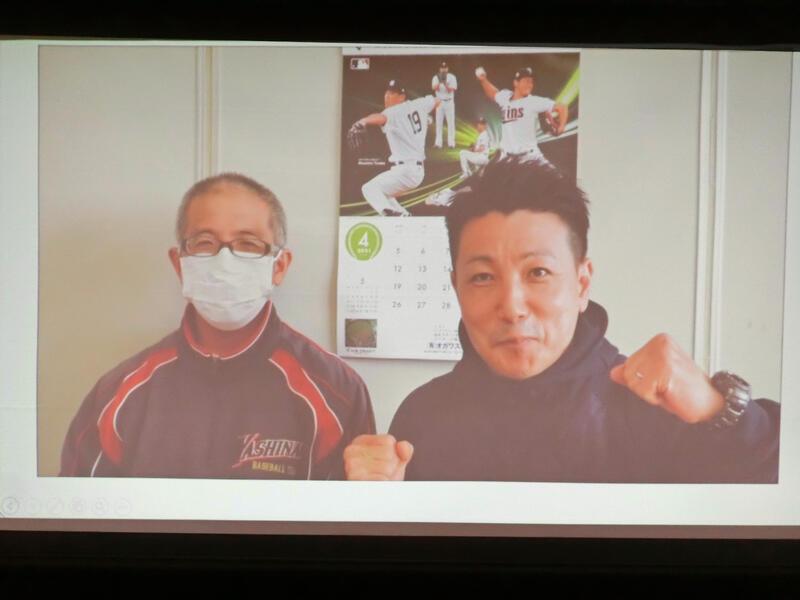 市川大恭先生(右)と当日司会の鈴木久就先生
